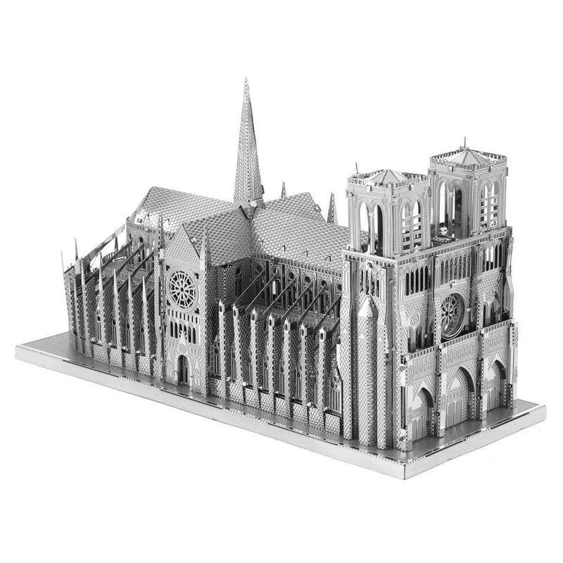 Side view of the metal Notre Dame.