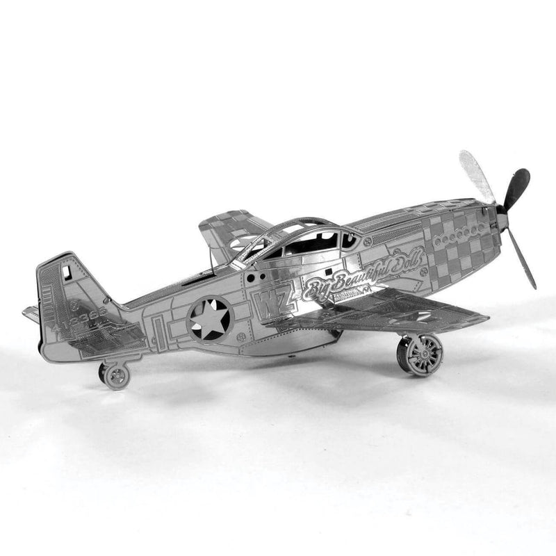 Side view of the completed metal model.