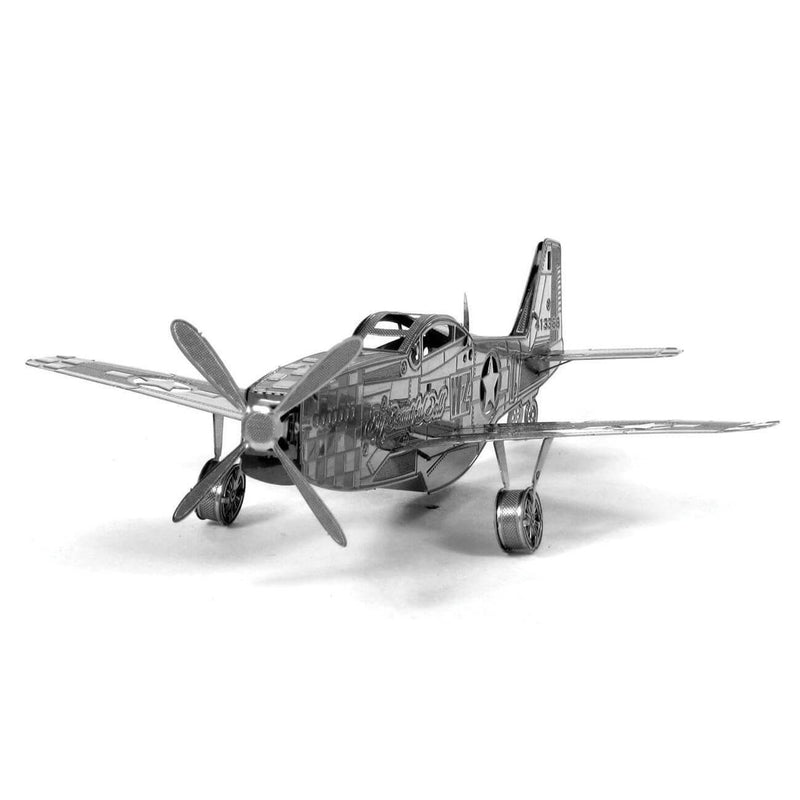 Front view of the metal plane kit.