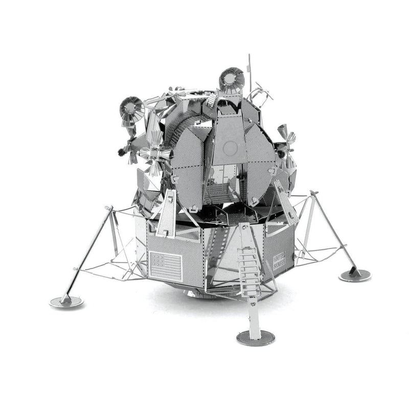 Back view of the Metal Earth Apollo Lunar Module Metal Model Kit - 2 Sheets.