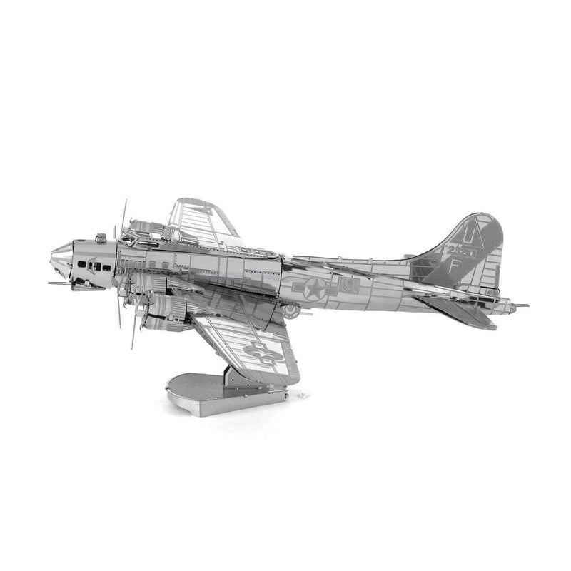 Side view of the Metal Earth Boeing B-17 Flying Fortress Plane Model Kit - 2 Sheets.