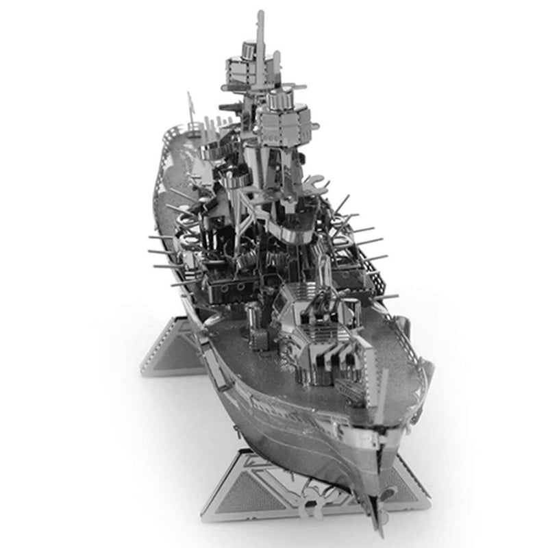Front view of the Metal Earth USS Arizona Ship Metal Model Kit - 2 Sheets.