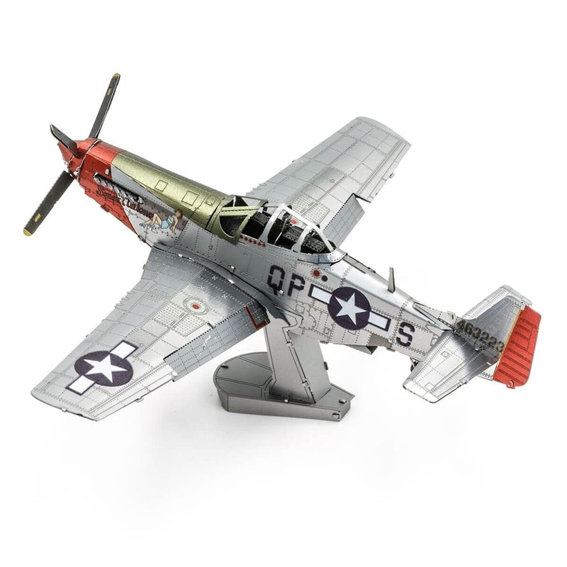 "Side view of the Metal Earth Boeing Mustang P51-D ""Sweet Arlene"" Model Kit - 2 Sheets."