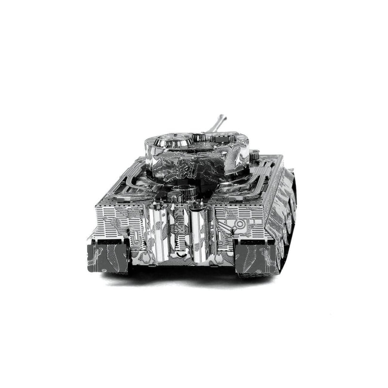 Back view of the Metal Earth Tiger I Tank Metal Model Kit - 2 Sheets.