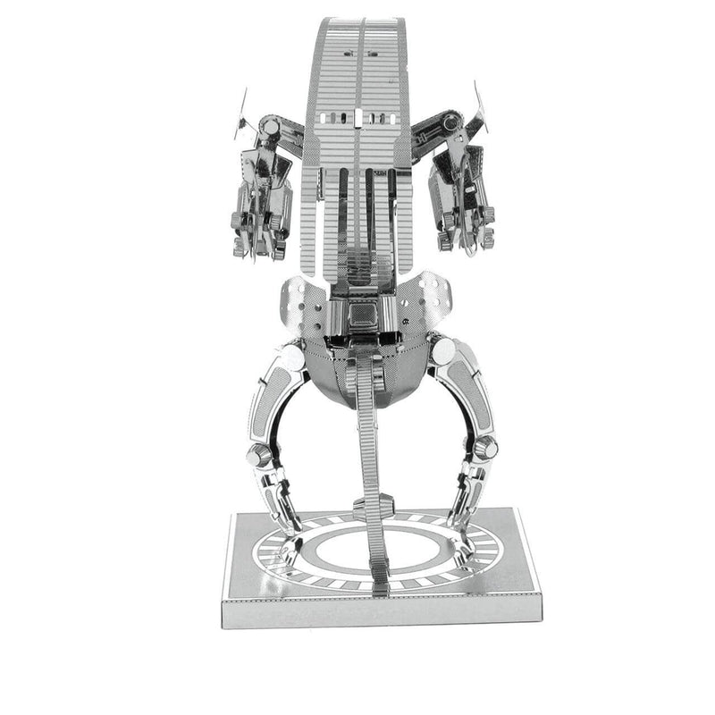 Back view of the metel droid.