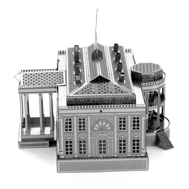 Side view of the Metal Earth White House Metal Model Kit - 2 Sheets.