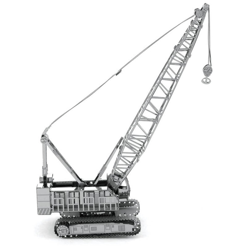Side view of the Metal Earth Crawler Crane Metal Model Kit - 2 Sheets.