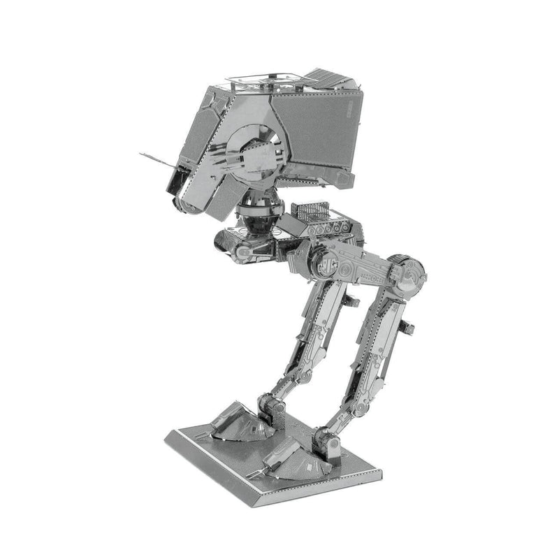 Side view of the Metal Earth Star Wars AT-ST Metal Model Kit - 2 Sheets.