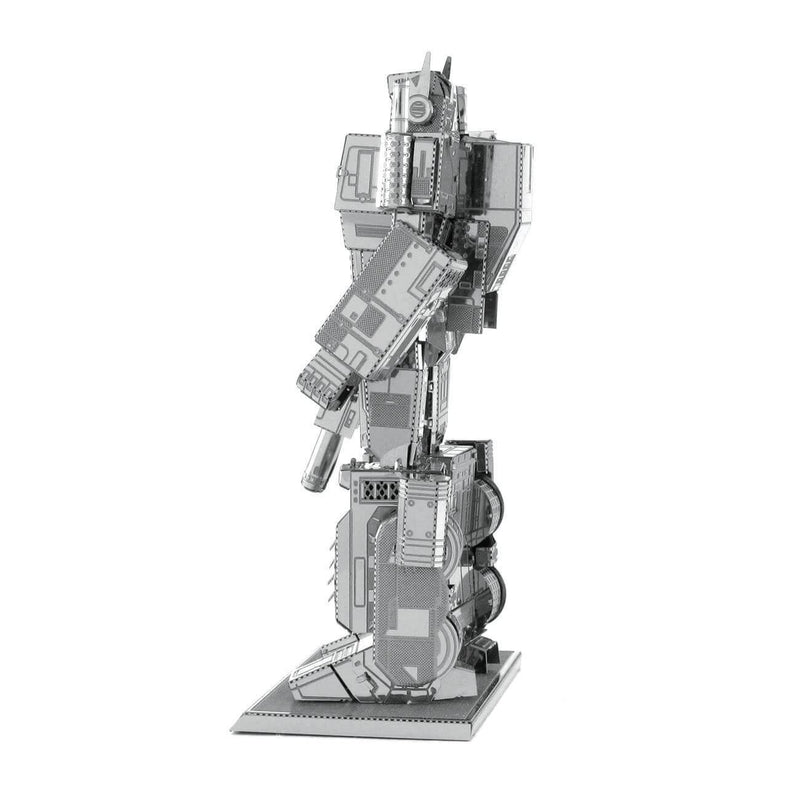 Side view of the Metal Earth Transformers Optimus Prime Metal Model Kit - 2 Sheets.