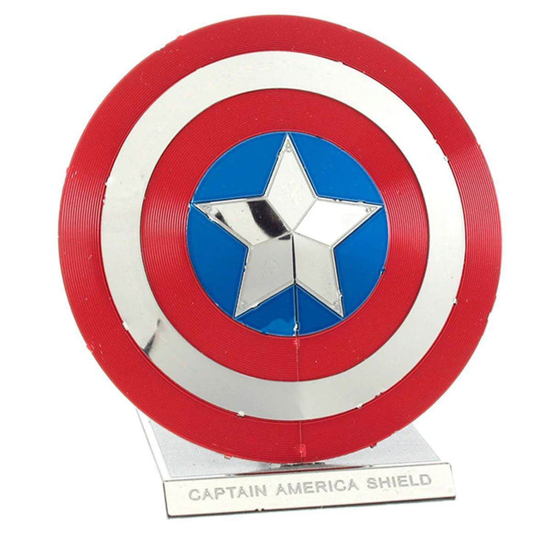 Metal Earth Marvel Captain America's Shield Color Model Kit - 2 Sheets