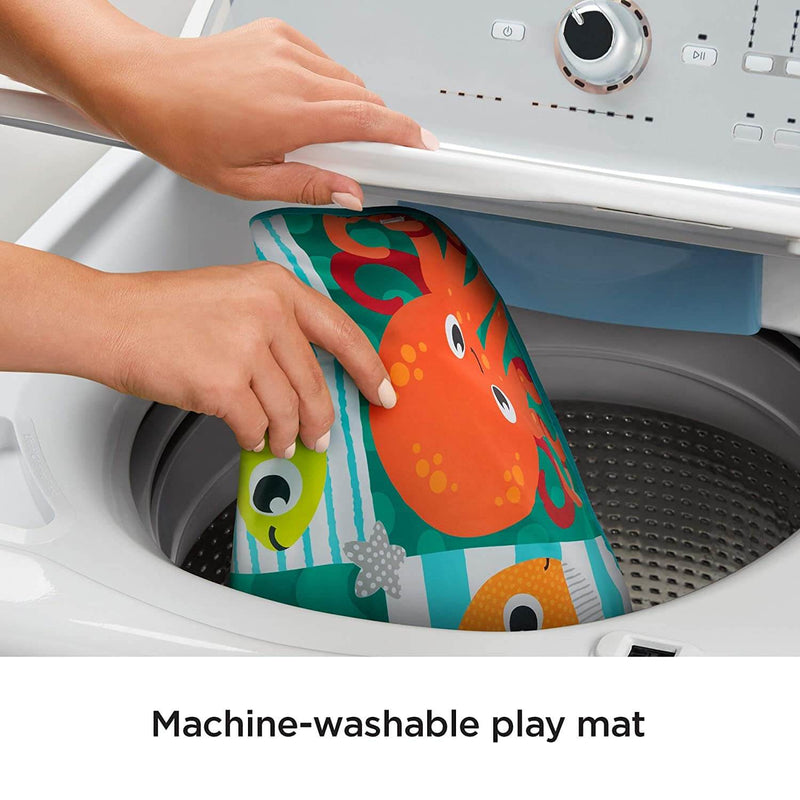 Close up of toy being washed.