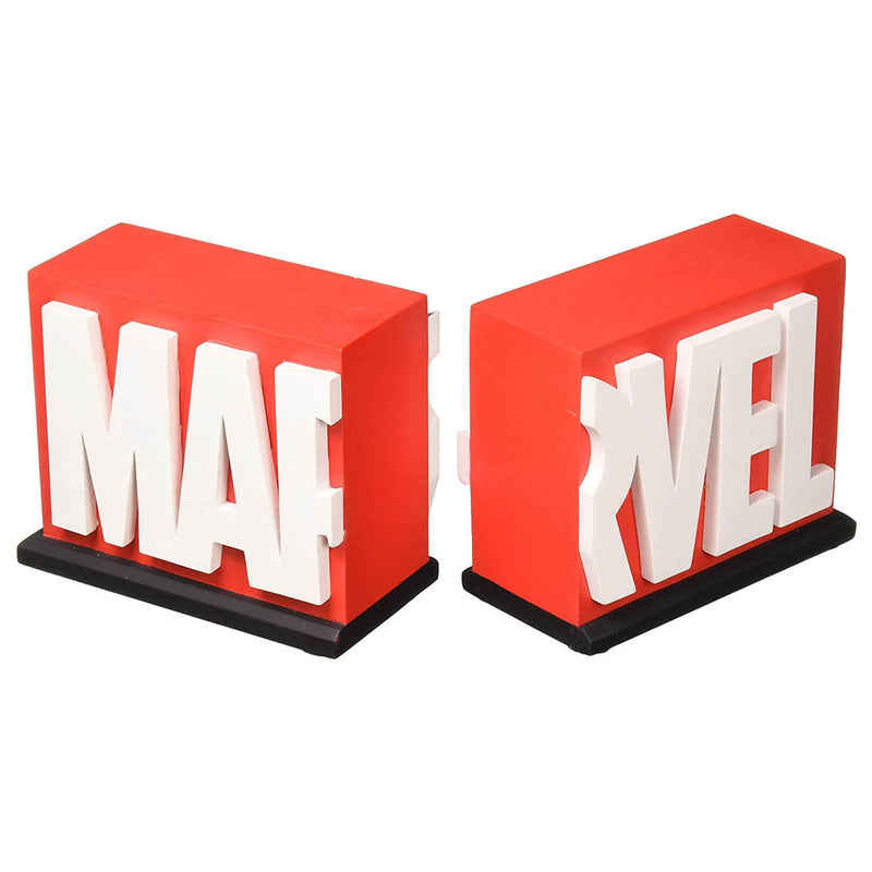 Front view of the marvel bookends.