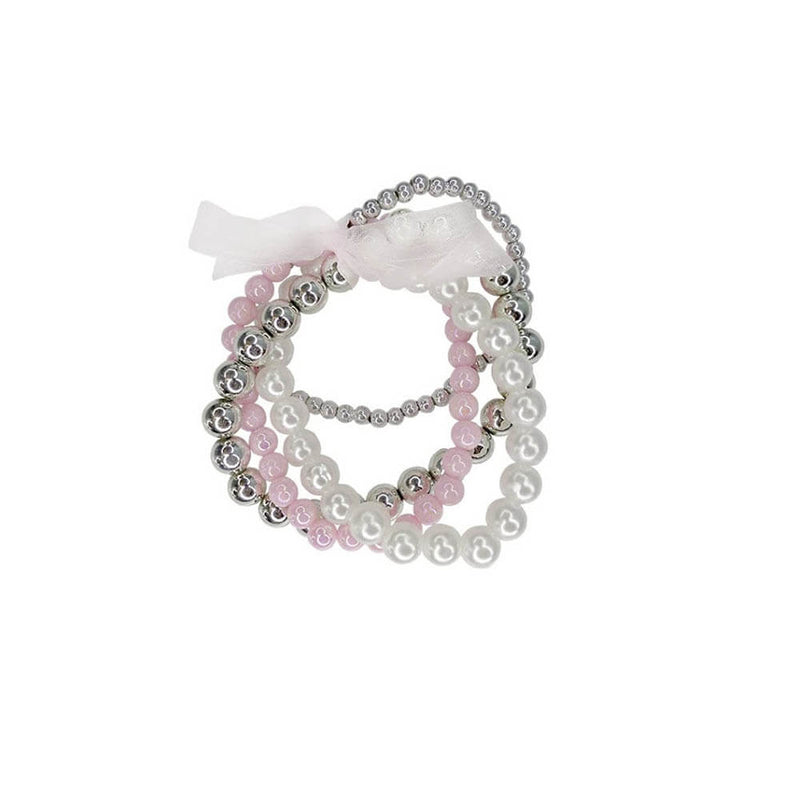 Front view of the Great Pretenders Pearly to Wed Bracelet 4 Piece Set.