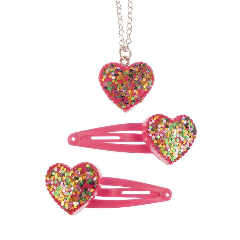 Great Pretenders Sparkle My Heart Snap Clips and Necklace