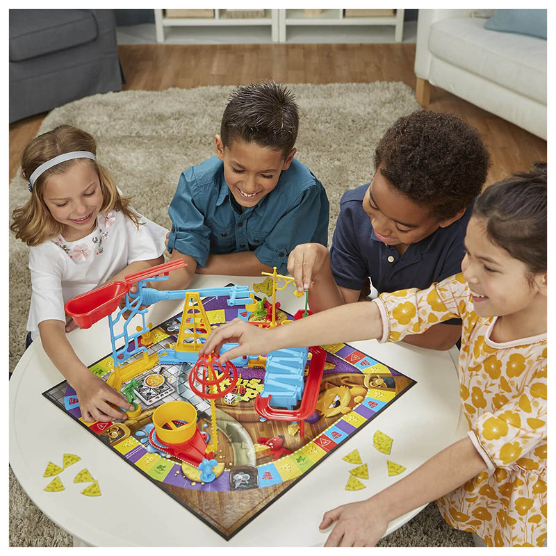 Front view of kids playing the Mouse Trap Game.