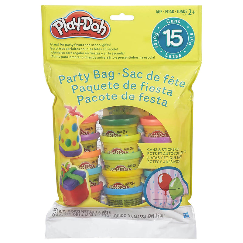 Front view of the Play-Doh party pack 15 count package.