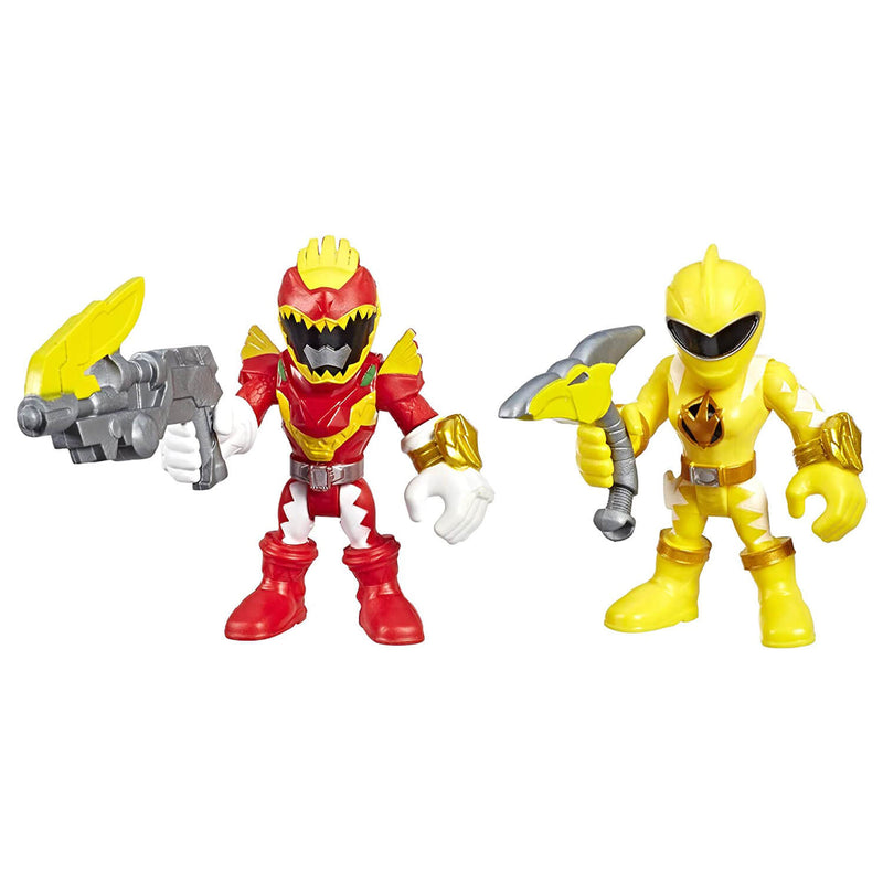 Playskool Heroes Power Rangers Red Ranger & Yellow Ranger Figures