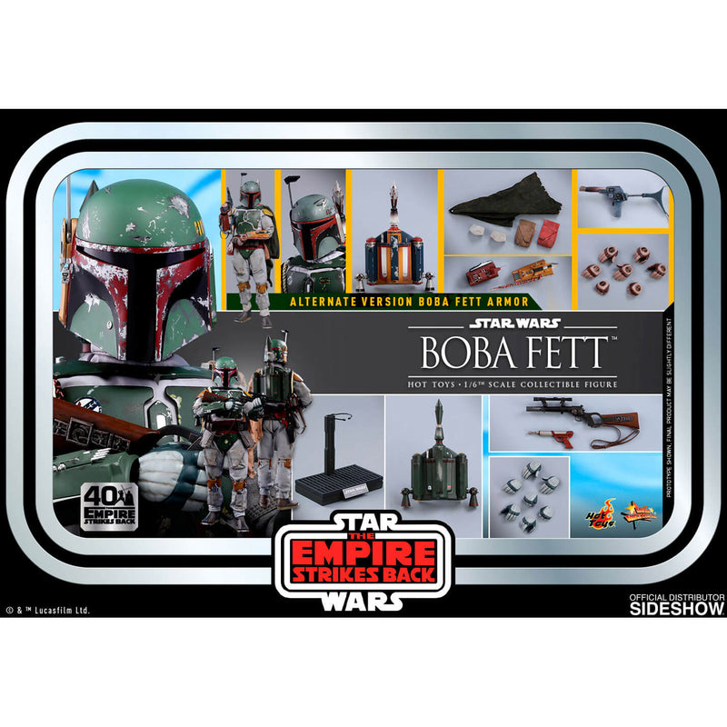 Hot Toys Movie Masterpiece Series Star Wars Empire Strikes Back 40th Anniversary Boba Fett 1:6 Scale Collectible Figure