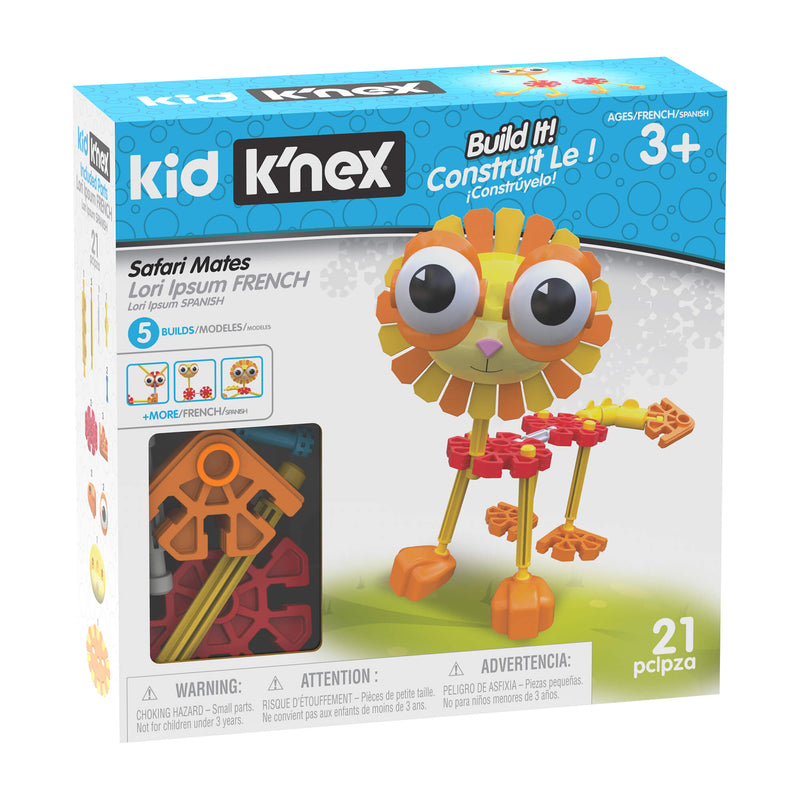 Kid K'NEX Safari Mates 21 Piece Building Set