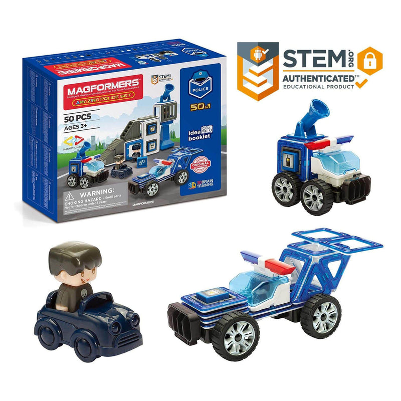 Magformers Amazing Police 50 Piece Set