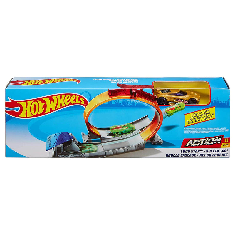 Side view of the Hot Wheels Action Loop Star Playset.