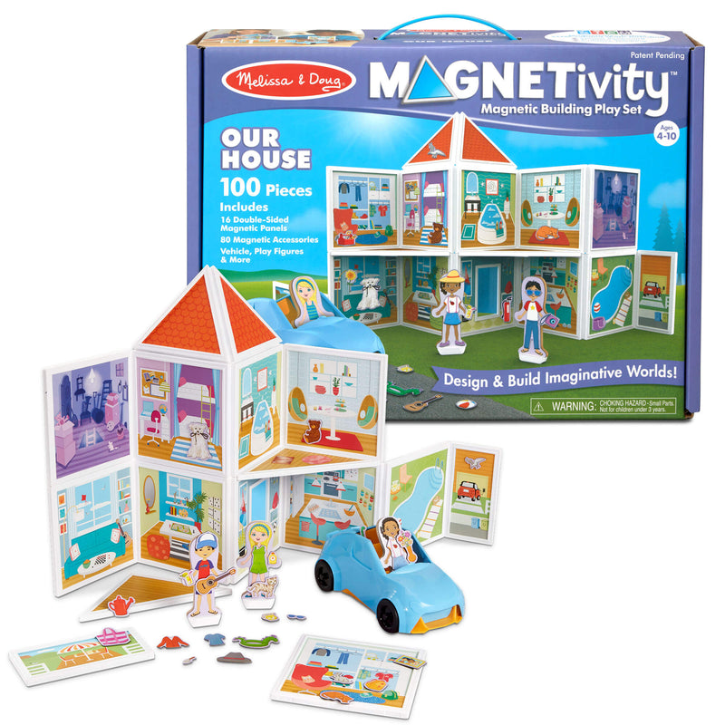 Melissa & Doug Magnetivity Our House Magnetic Building Play Set
