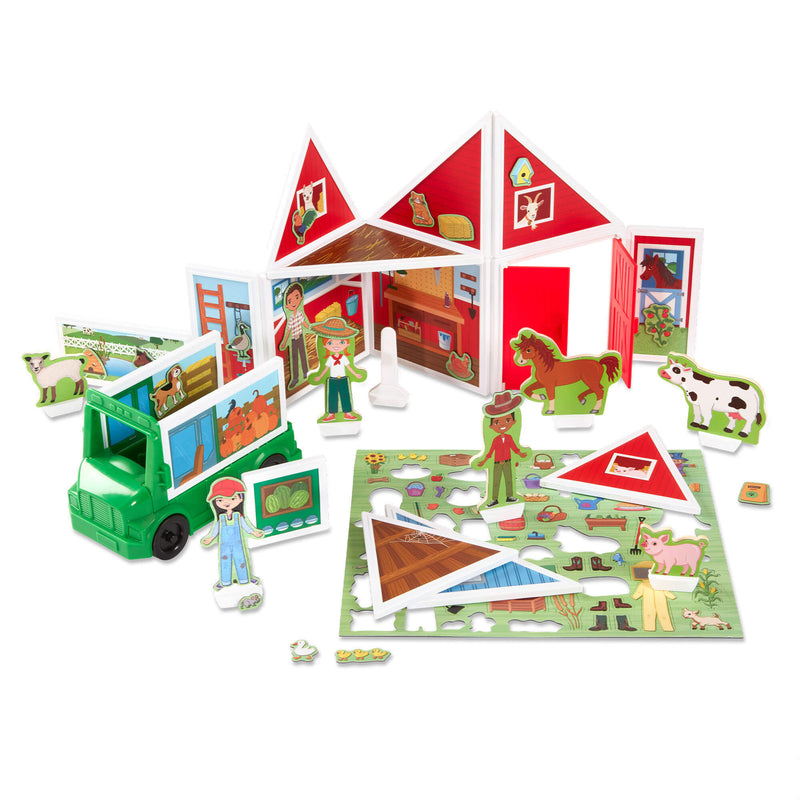 Melissa & Doug Magnetivity On the Farm Magnetic Building Play Set