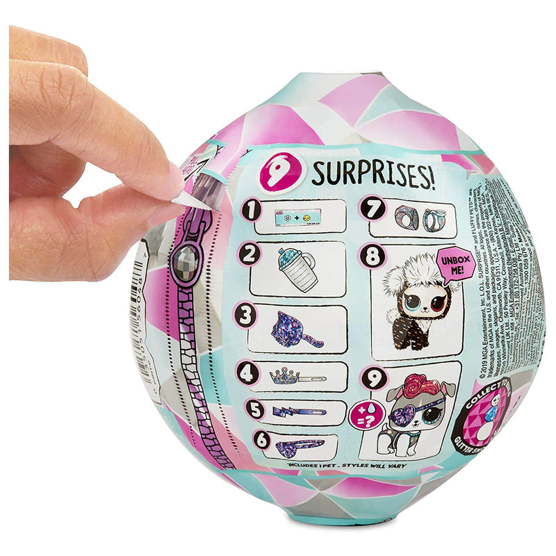 Back view of the L.O.L. Surprise Fluffy Pets package.