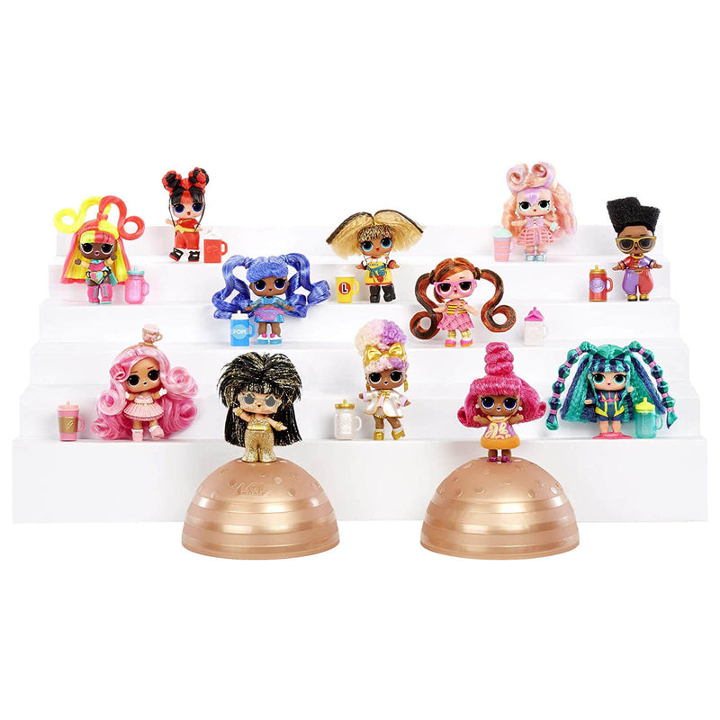 Front view of the L.O.L. figures.