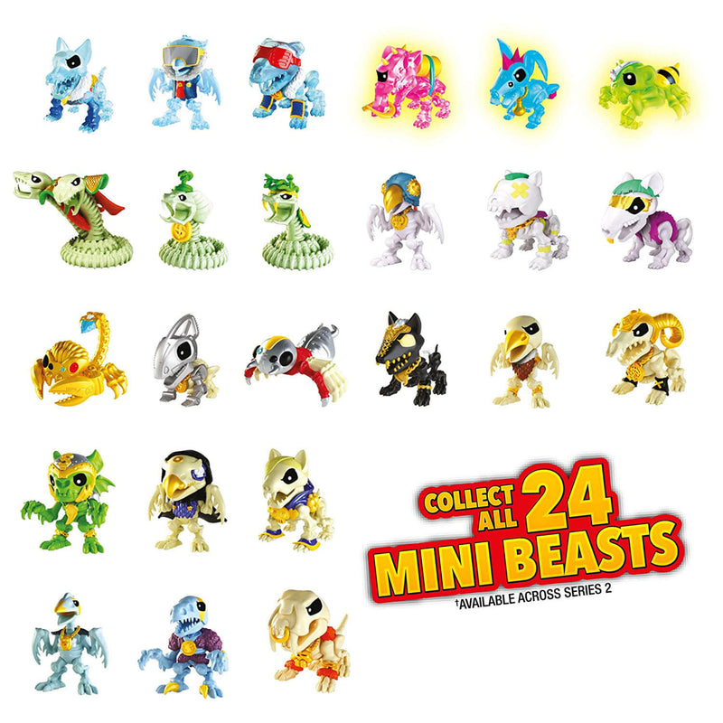Front view of all collectible figures.