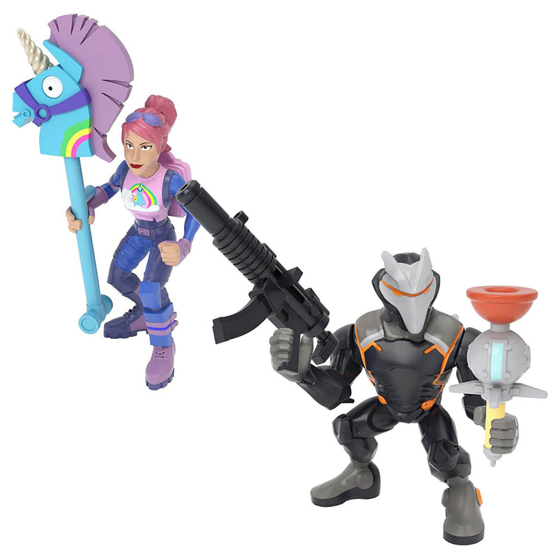 "Front view of the Fortnite 2"" Duo Figure Pack - Omega and Brite Bomber."