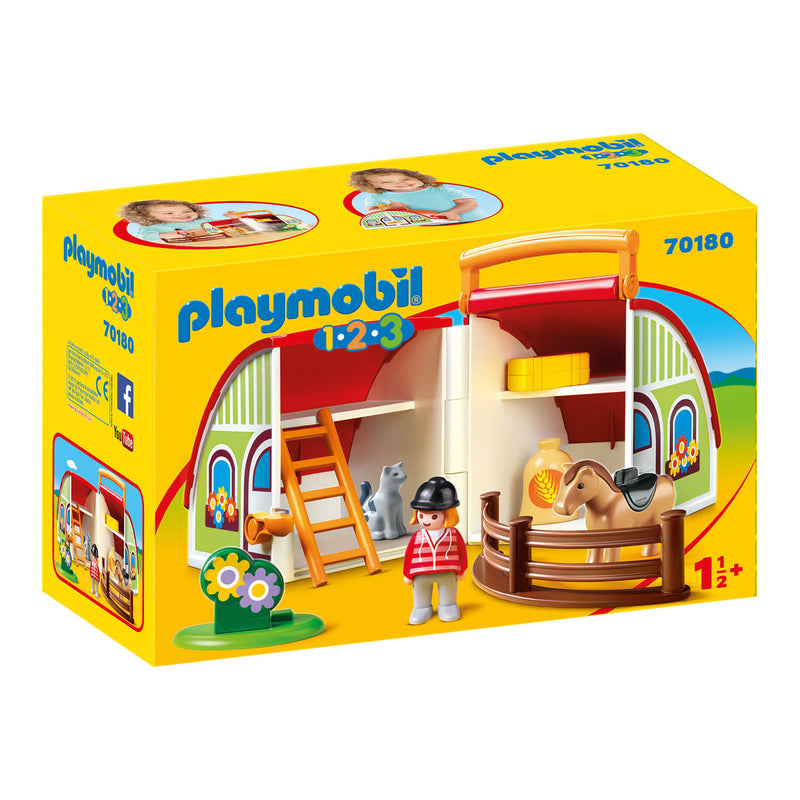 PLAYMOBIL 1.2.3 My Take Along Barn (70180)