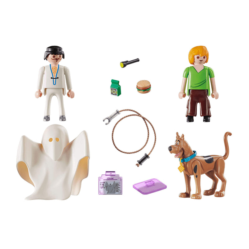 PLAYMOBIL Scooby-Doo! Scooby & Shaggy with Ghost (70287)