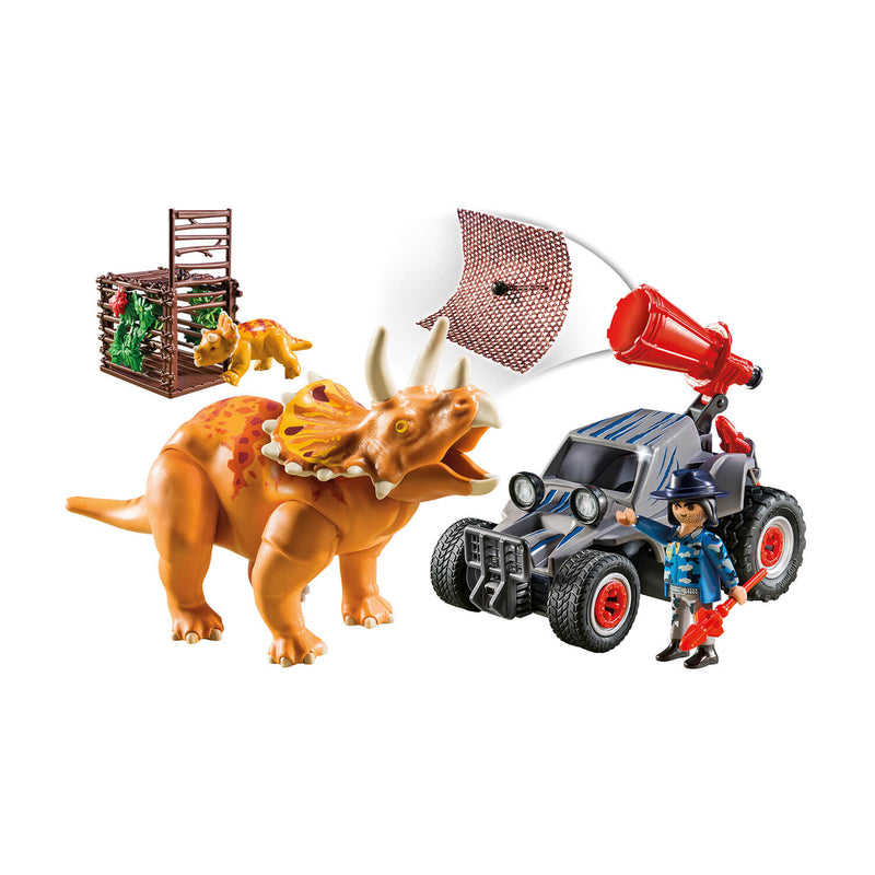 PLAYMOBIL Dinos Enemy Quad with Triceratops (9434)