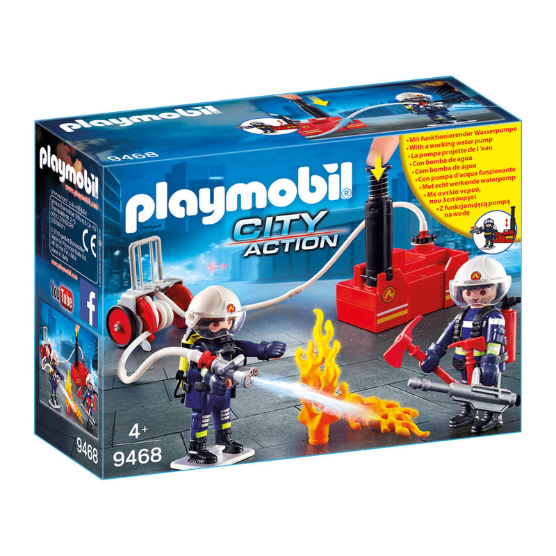 PLAYMOBIL Fire Brigade Firefighters with Water Pump (9468)