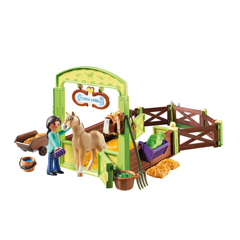 PLAYMOBIL Spirit Riding Free Pru & Chica Linda with Horse Stall (9479)