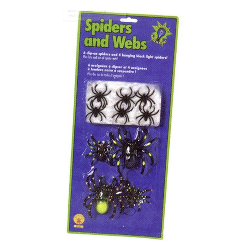 Rubies Rubber Spiders with Web Set
