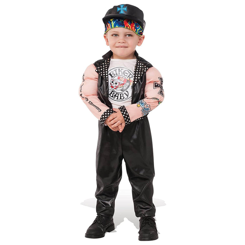 Rubies Muscle Man Biker Extra Small Costume