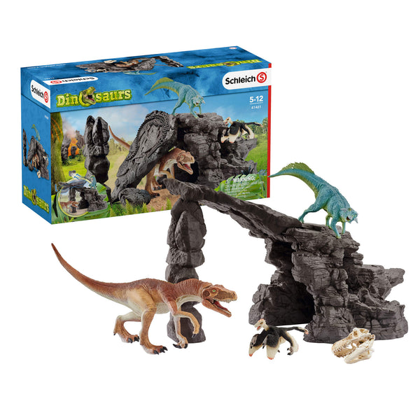 Schleich Dinosaurs Dino Set With Cave Play Set