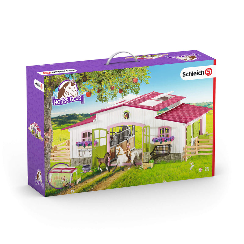 Schleich Horse Club Riding Centre With Rider And Horses Play Set