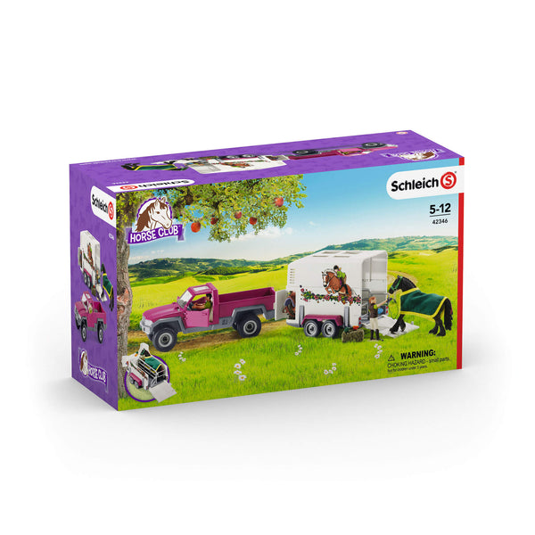 Schleich Horse Club Pick Up with Horse Trailer Toy Figure