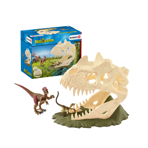 Schleich Dinosaurs Large Skull Trap with Velociraptor Toy Figure