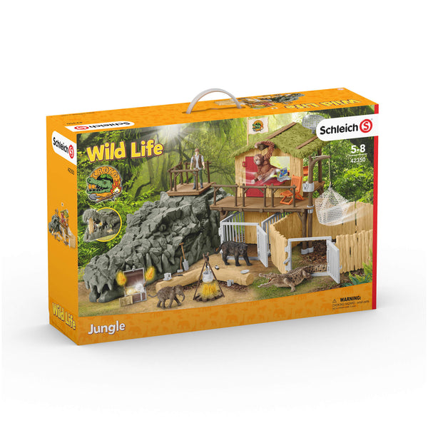 Schleich Wild Life Croco Jungle Research Station Play Set