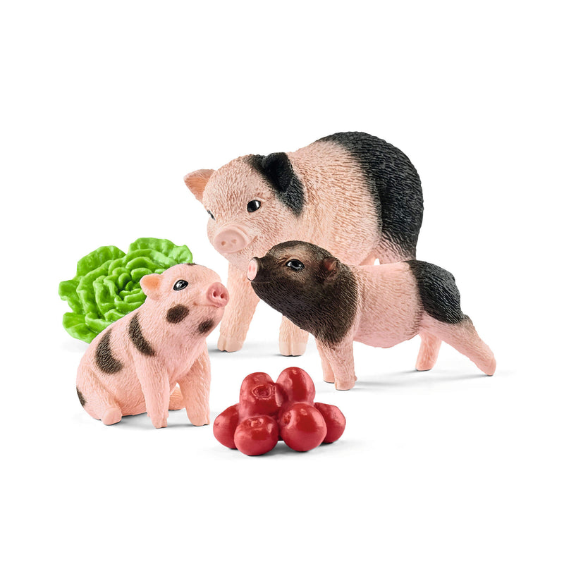 Schleich Farm World Miniature Pig Mother And Piglets Play Set