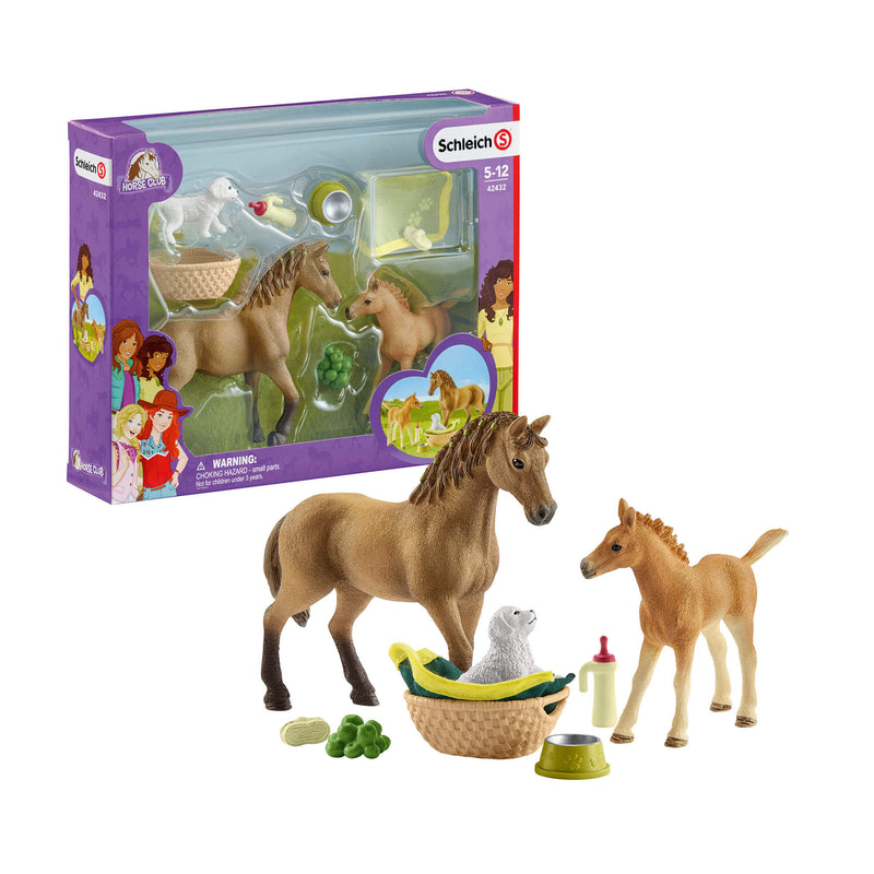 Schleich Horse Club Horse Club Sarah's Baby Animal Care Play Set