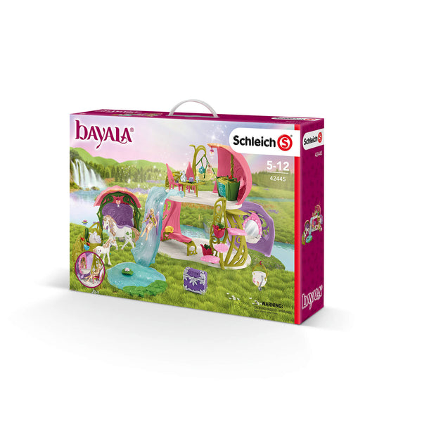 Schleich Bayala Glittering Flower House With Unicorns, Lake And Stable Play Set