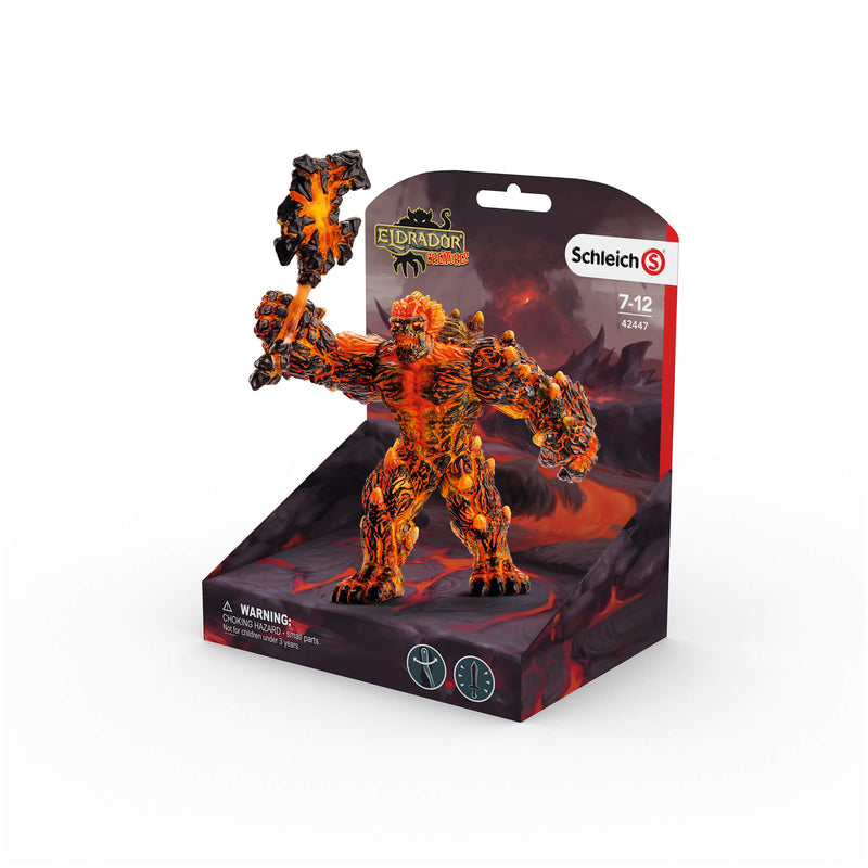 Schleich Eldrador Creatures Lava Golem With Weapon Figure