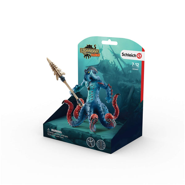 Schleich Eldrador Kraken Monster Octopus Figure with Weapon