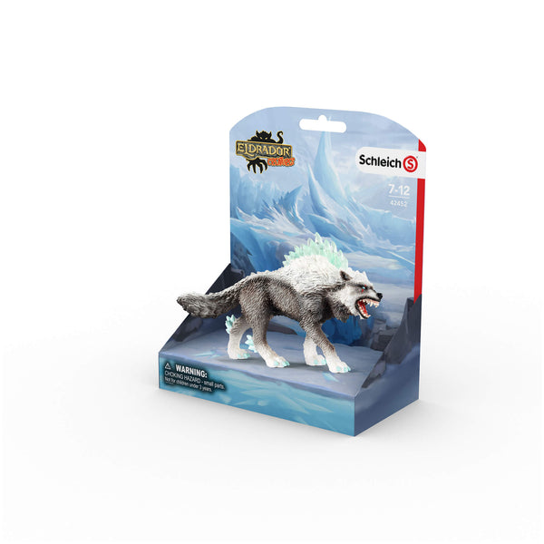 Schleich Eldrador Snow Wolf Animal Figure