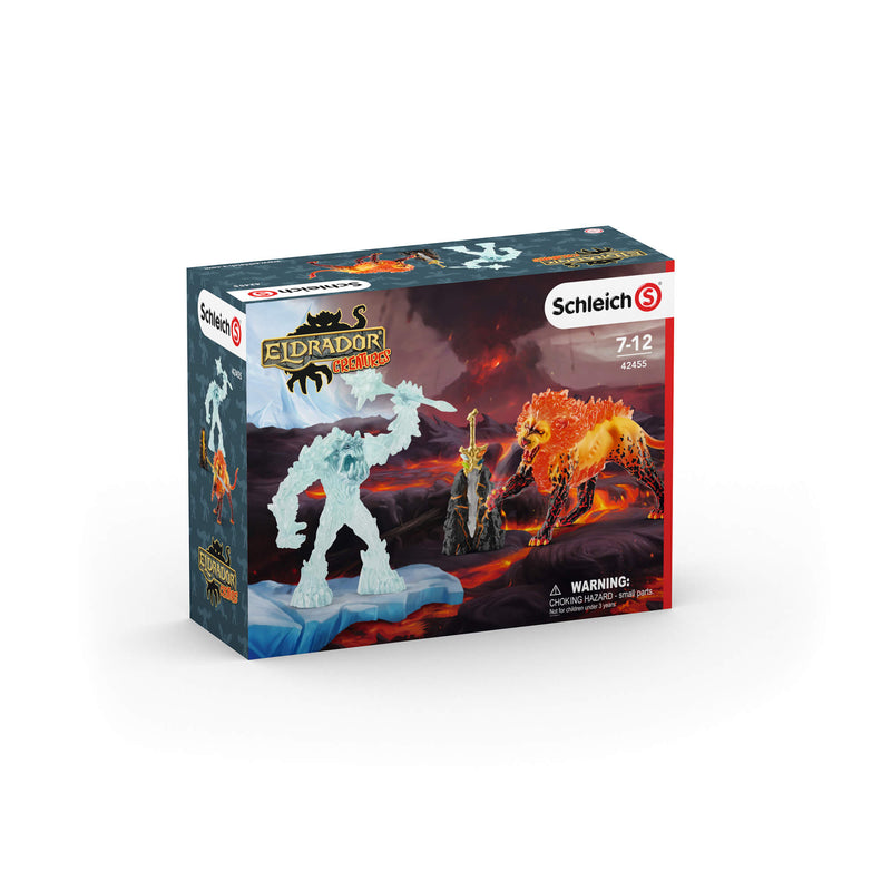 Schleich Eldrador Creatures Battle For The Superweapon – Frost Monster Vs. Fire Lion Play Set